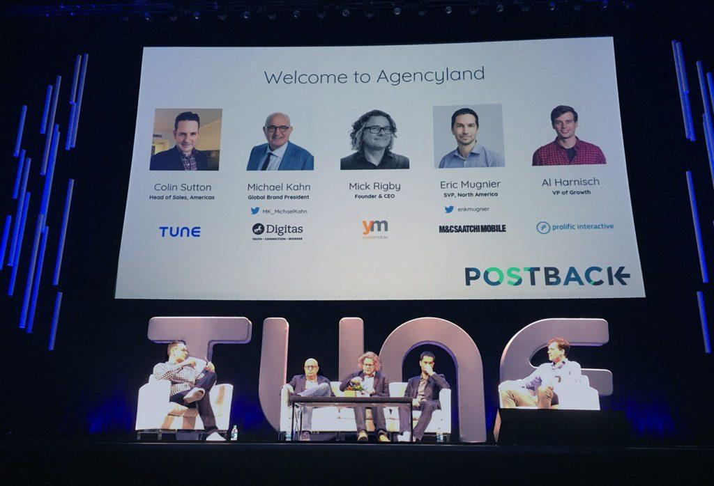 Agency panel at Postback 2018