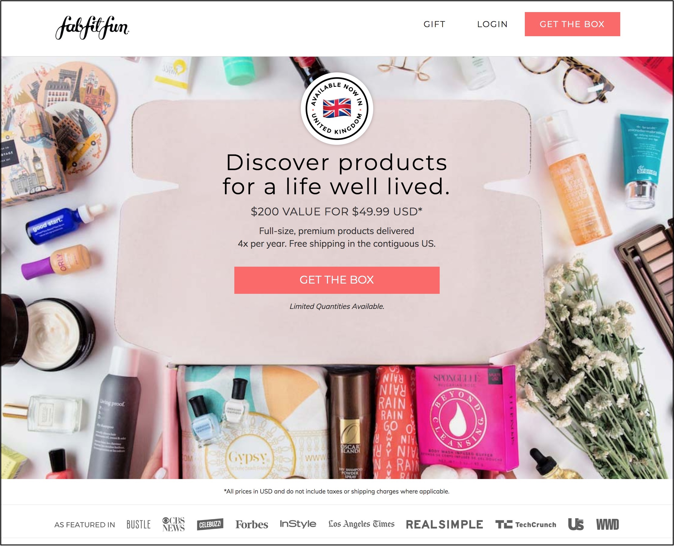 FabFitFun website homepage